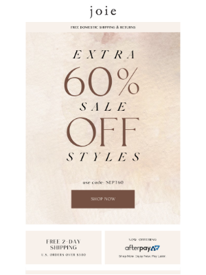 Joie - Extra 60% Off Sale |  Shop Now
