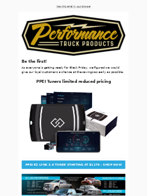 Performance Truck Products email marketing strategy - MailCharts
