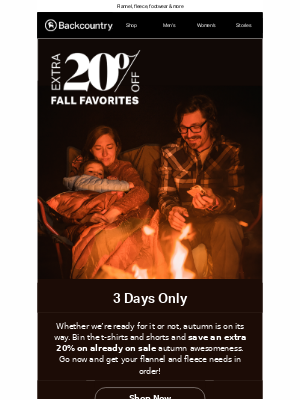 Extra 20% Off Already on Sale Fall Favorites