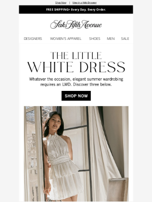 Saks Fifth Avenue - Summer's dreamiest little white dresses for every occasion