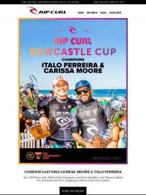 Rip Curl - Congrats Carissa & Italo! 🏆