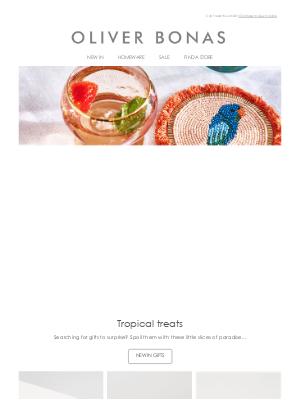 Oliver Bonas - A slice of paradise | Tropical treats 🦜