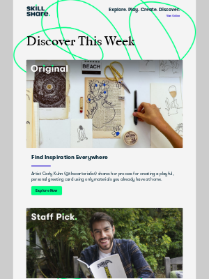 Skillshare - Delores, unleash your inner artist, brainstorm new ideas, and more!