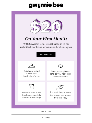 Gwynnie Bee - Sign up and save on your first month