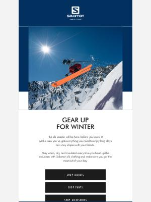 Salomon - Ski season is just around the corner, are you ready?