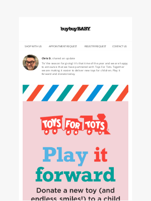 buybuy BABY - We've Partnered with Toys for Tots