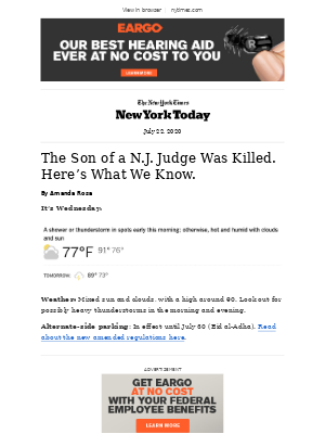 The New York Times - N.Y. Today: A Lawyer, a Judge and a Shooting