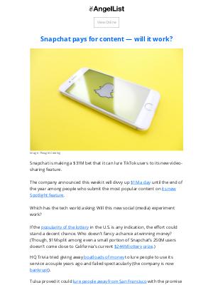 AngelList - Snapchat's $31M Bet