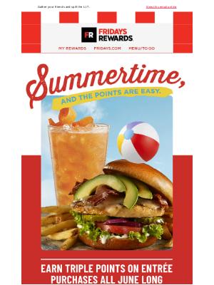 TGI Fridays - Sip Into Summer & 3x Points😎