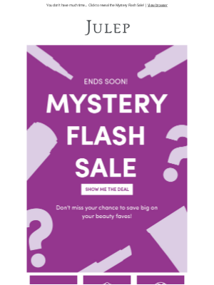 Julep - Your Mystery Deal is expiring... 😱