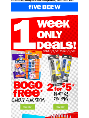 new drop! one week only back to school deals!