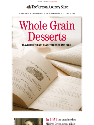 Vermont Country Store - Cooking With Healthy Whole Grains
