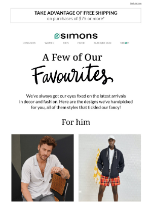 Simons Canada - A few of our favourites 💕
