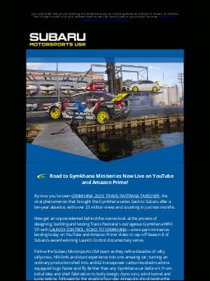 Subaru of America - MOTORSPORTS NEWS: WATCH THE GYMKHANA MINISERIES NOW
