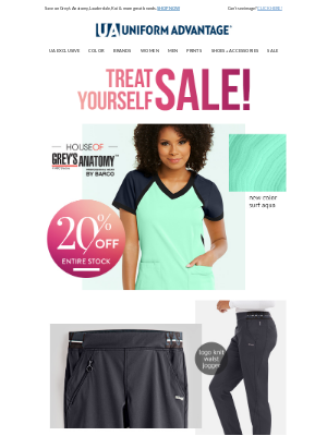 Treat Yourself to new scrubs on sale