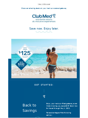 Club Med - Jaw-dropping savings are here!