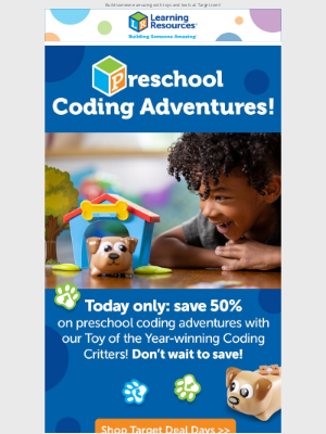 Learning Resources - Today Only: 50% off Coding Critters at Target!