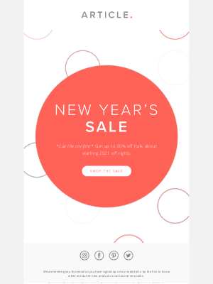 Article - Our New Year's Sale starts now — get up to 30% off