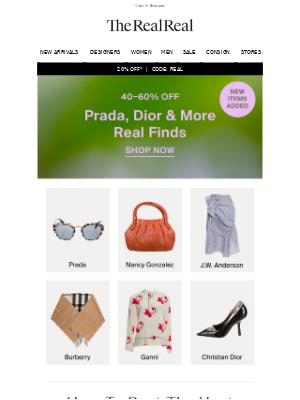 Prada & Dior, Up To 60% Off