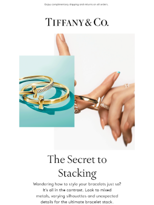 Tiffany & Co. - Stacking Bracelets We Love Right Now