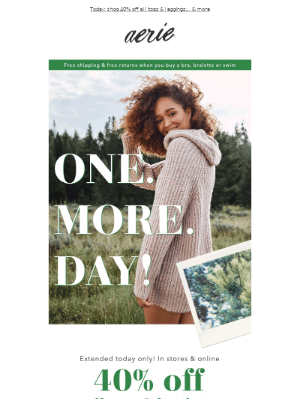 Now extended! Shop it all for one more day