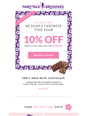 Fairytale Brownies - Last chance! Ready for Mother's Day?