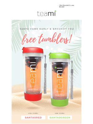 FREE TUMBLERS for Christmas in July🎄😱