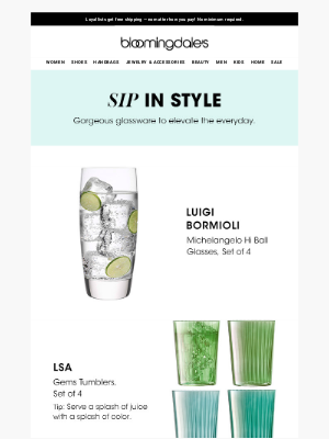 Clear winners: New glassware for the everyday
