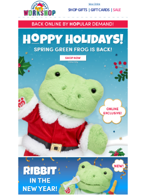 Build-A-Bear Workshop - HOP TO IT: Spring Green Frog Is Back While Supplies Last!