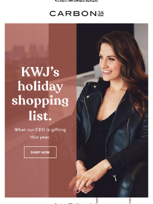 Our CEO's holiday shopping list.