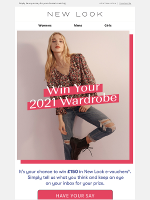 New Look (UK) - £150 could be yours…