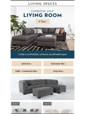 Living Spaces - Why You NEED A Living Room Set