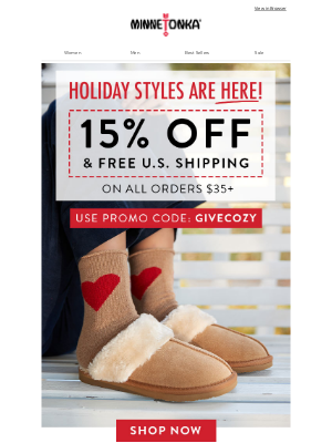 Minnetonka Moccasin - ❄️ NEW! Limited Edition Styles (Plus 15% OFF!)
