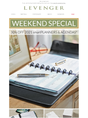 Levenger - 30% off 2021 smartPlanners Ends Tonight.