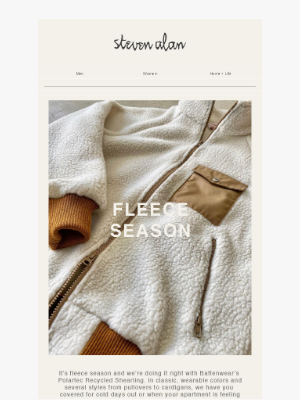 Steven Alan - NEW: Polartec Fleece from Battenwear