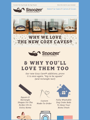 Snoozer Pet Products - Why We Love The Brand New Snoozer Cozy Caves®