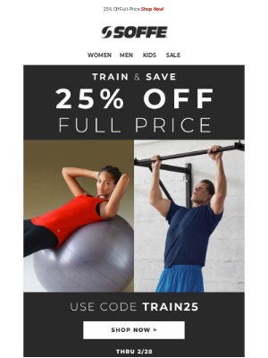 Soffe LLC. - Train and Save | 25% Off 💪