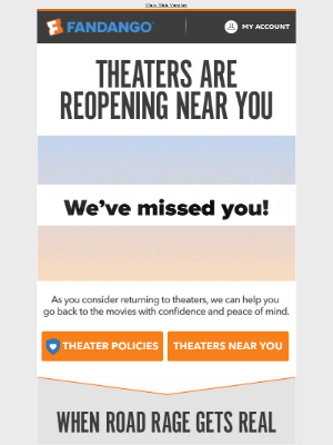Fandango - Theaters Are Reopening 🤩 See What's Playing