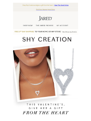 Jared - Capture her heart with Shy Creation jewelry