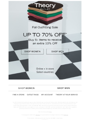 Theory - Up to 70% Off Ends Tonight