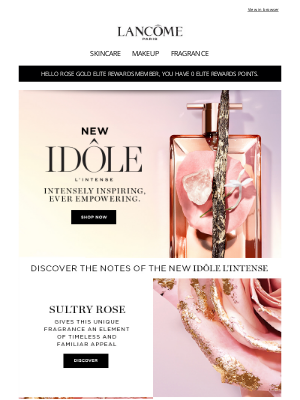 Lancome - Irresistible Notes of Rose, Jasmine, Musks and Vanilla
