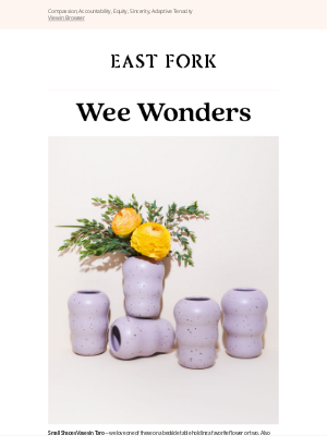 East Fork - Taro Shapes Vases Today at 12pm ET!