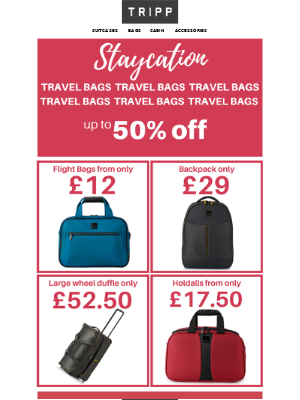 Tripp (UK) - 😎Staycation travel bags from only £12!