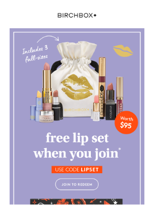 $95 Worth of Lip Product For FREE?
