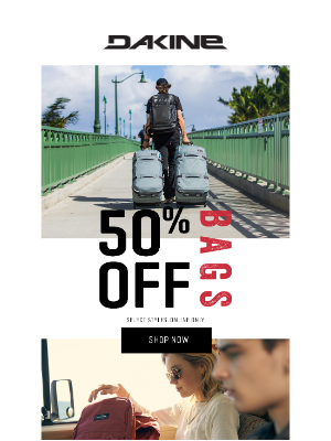 Dakine Inc - New Markdowns | 50% OFF Bags & Travel