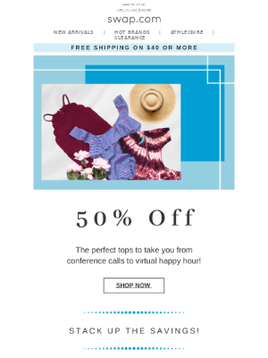 50% Off-You Can't TOP This!