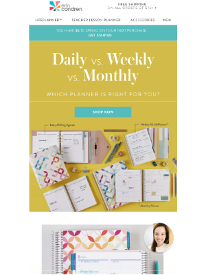 Erin Condren - Are You a Daily, Monthly or Weekly Planner?