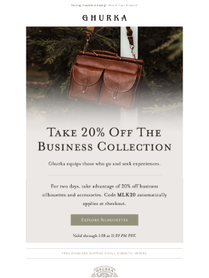 Ghurka - Take 20% Off The Business Collection