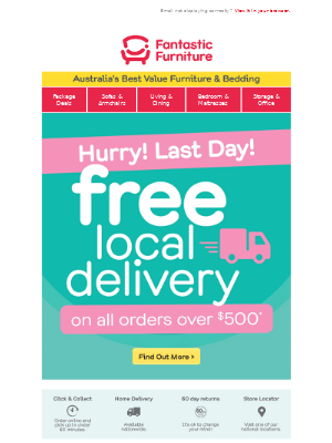 Quick ⏳  free delivery ends midnight*