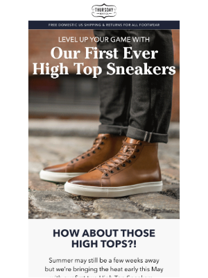 Thursday Boot Company - Our First High Top Sneakers!